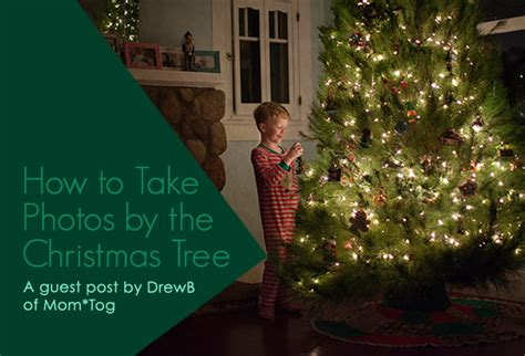 how to take photos by the christmas tree blog