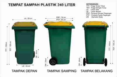 Meja Plastik Krisbow tempat sah plastik 240 liter murah eco bin
