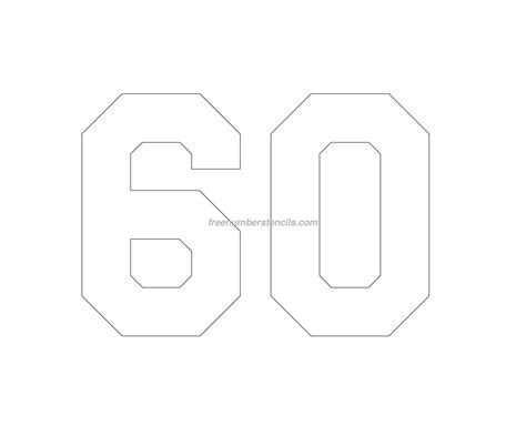 printable jersey numbers free jersey printable 60 number stencil