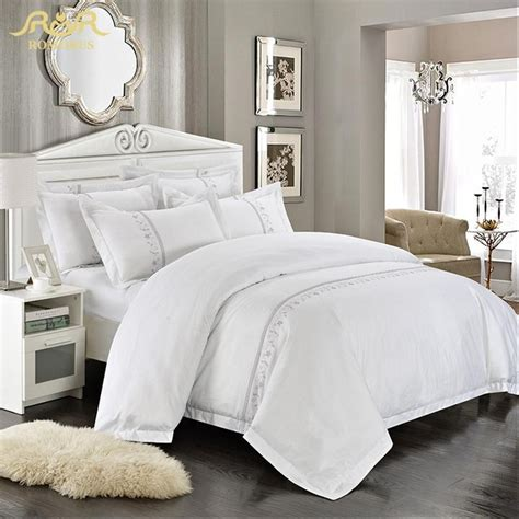 Wholesale Bedding Sets Aliexpress Buy Romorus Wholesale Hotel Bedding Set 4 6 Pcs White King Size 100