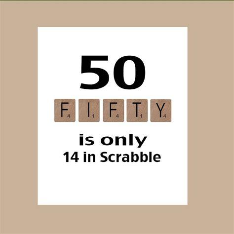 50th Birthday Card Milestone Birthday Scrabble by DaizyBlueDesigns, $4.00   50th Birthday