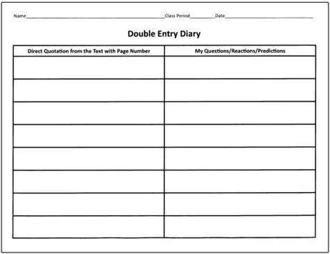 printable double entry journal table setting diagram printable table get free image