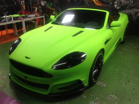 Lime Geen Wrap On Aston Martin Dbs Autoevolution