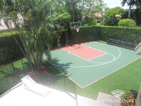 backyard basketball court versacourt indoor outdoor backyard basketball courts