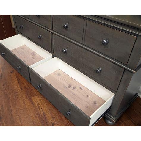 aspenhome oxford transitional 6 drawer dresser with felt
