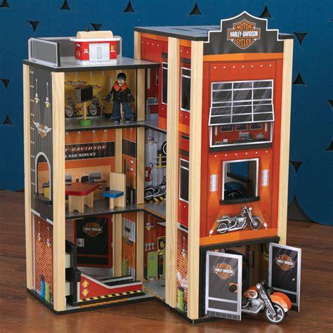 Wooden Garage Set kidkraft harley davidson wooden garage play set w accessories 10434 ebay