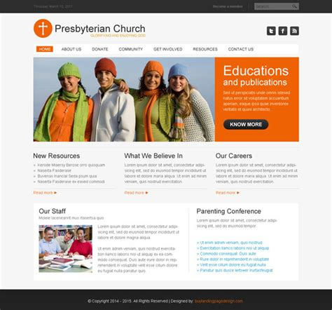 Presbyterian Church Website Psd 005 Preview Cheap Web Page Templates