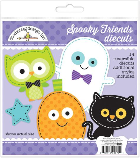 doodlebug october 31st doodlebug design october 31st spooky friends die cuts