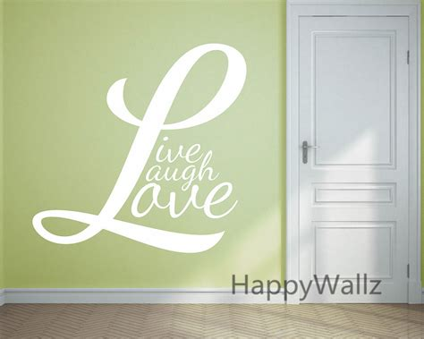 hot sale diy vinyl wall stickers decal art mural for kids motivational quote wall sticker live laugh love diy
