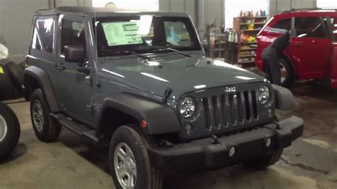 jeep wrangler grey 2 door 2014 jeep wrangler sport anvil 2 door nobody beats a