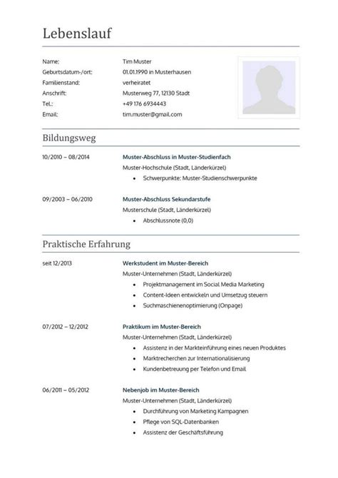 Lebenslauf In Muster 31 Best Images About Lebenslauf Vorlagen Muster On Free Cv Template Classic And A