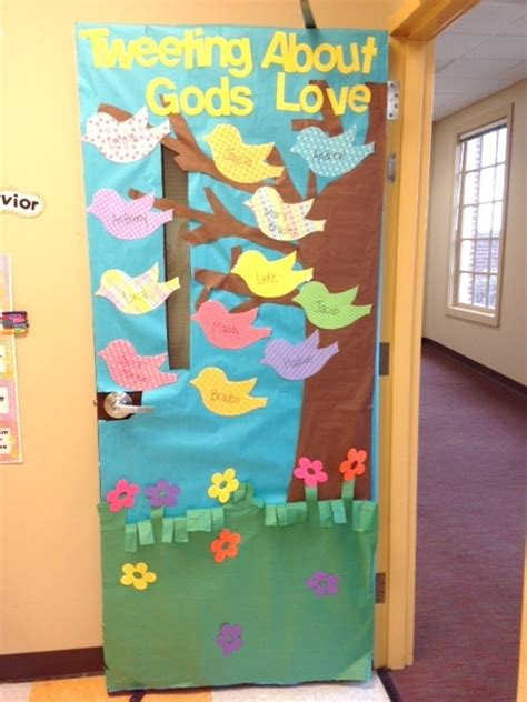 tweeting  gods love door decoration idea