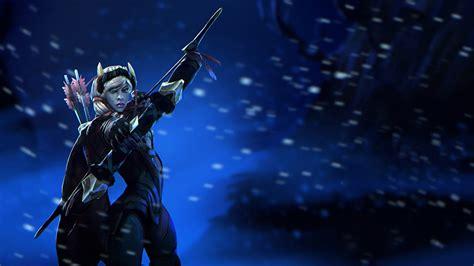 Kaos 3d Dota 2 Drow Ranger wallpapers dota 2 drow ranger archers warriors 3d