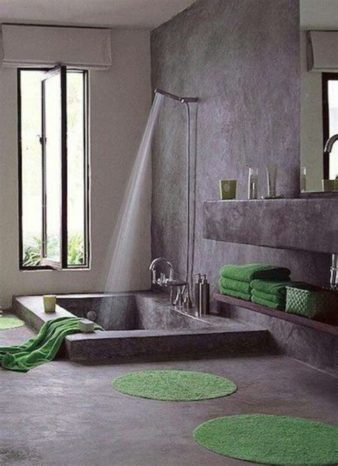 sunken bathtubs stone shower and sunken tub home style pinterest