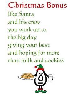 christmas bonus funny christmas poem free humor pranks