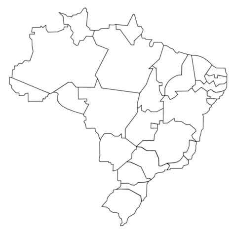 coloring page map of brazil outline map of brazil with states coloring page free