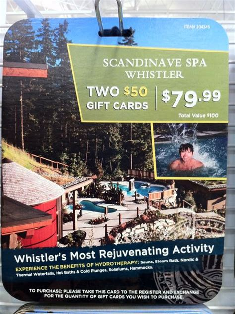 Spa Gift Cards Costco - tinkerblue wishlist scandinave spa gift card from costco
