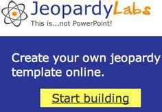 Jeopardy Powerpoint Template Great For Quiz Bowl Make Your Own Jeopardy Free Powerpoint