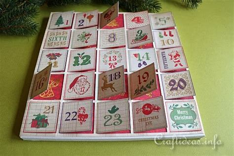 Paper Craft Calendars - paper craft scrapbook paper advent calendar on
