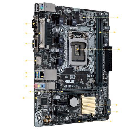 Motherboard Asus H110m D Micro Atx H110 7th Intel Ddr4 Resmi New h110m d motherboards asus global