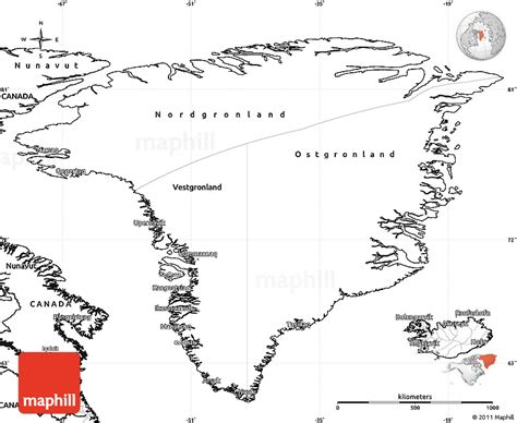 greenland map coloring page blank simple map of greenland
