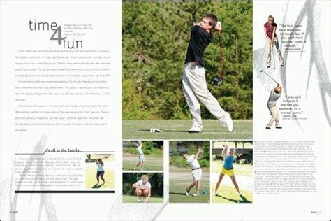 yearbook golf layout mauldin high school 2010 yearbook ideas pinterest