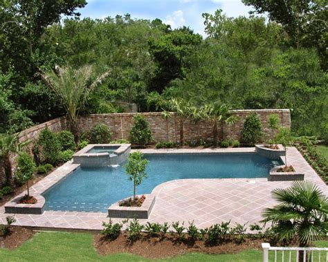 Inground Pools Designed For Backyard Living Residential Backyard Pool Design
