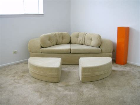 circle couch bed vintage 1970 s 70 s round circular modern mod sofa bed