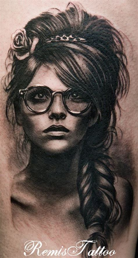 best portrait tattoo artist black and grey portrait by remigijus seriously