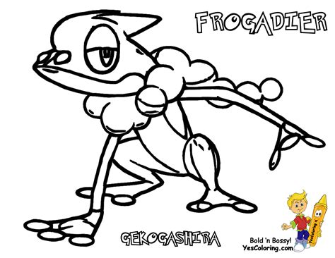 pokemon coloring pages chespin classy design ideas pokemon coloring pages froakie