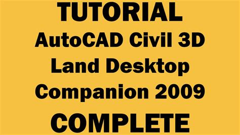 Tutorial Autocad Civil 3d 2009 | tutorial autocad civil 3d land desktop youtube