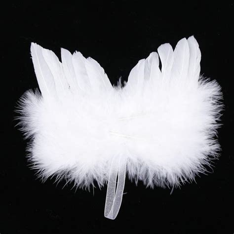 fluffy feather christmas tree decoration angel wings aliexpress buy baby photo props white feather wing tree decoration