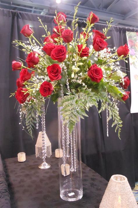 hanging flower vases wedding arrangement on a glass vase with hanging