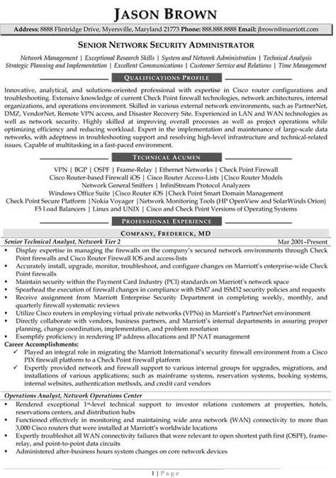 good sales administrator cv network administartion sample resume
