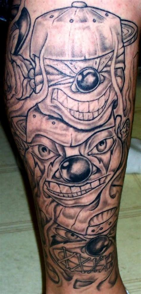 evil jester tattoo designs pics photos evil clown on leg evil joker