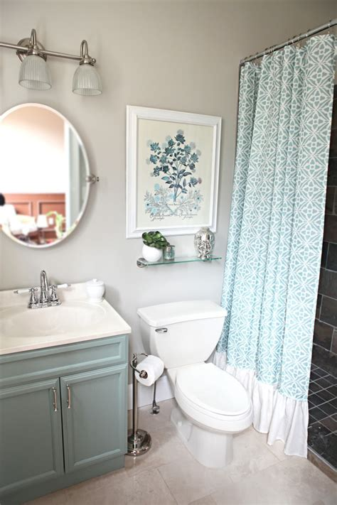 bathroom bathroom design with small vainty and curtains small bathroom chic vibrant colors make small bathrooms
