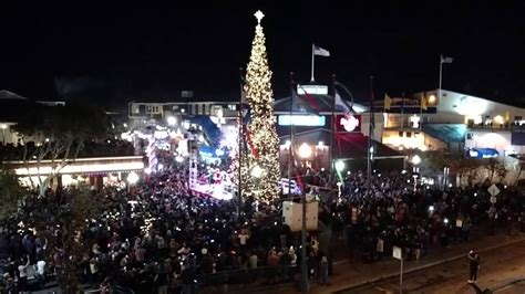 christmas tree lighting san francisco pier 39 11 22 2014