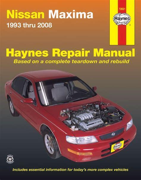online service manuals 2009 nissan maxima free book repair manuals nissan maxima repair and service manual 1993 2008 haynes 72021