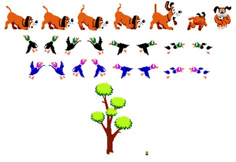 how to your to duck hunt duck hunt sprites the nes sprites here