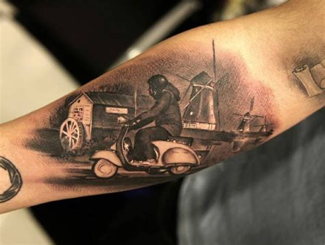 vespa tattoo designs 35 best scooter tatoos images on