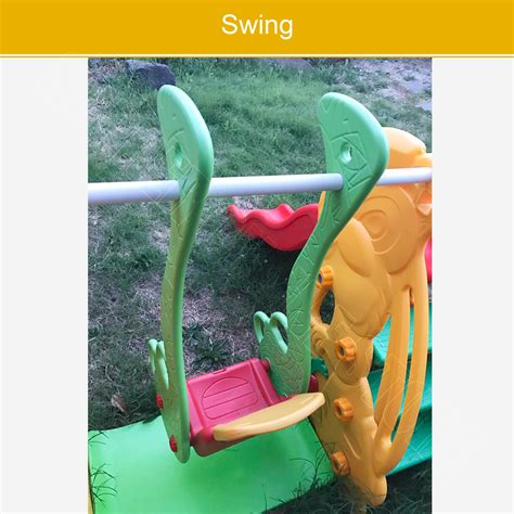 swing activity kids slide swing basketball ring toddlers outdoor activity