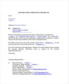 construction certificate of completion template construction certificate of completion template 15