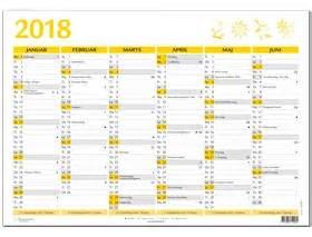 Kalender Med Helligdage 2018 A4 V 230 Gkalender 2018
