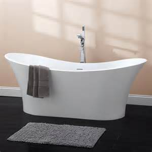 69 quot avoca resin freestanding slipper tub bathroom