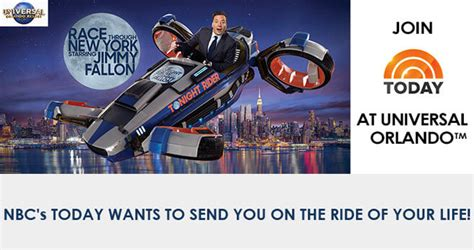 Today Show Orlando Sweepstakes - today show ride of your life sweepstakes rideofyourlifesweeps com