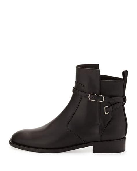 balenciaga ankle flat ankle boot black