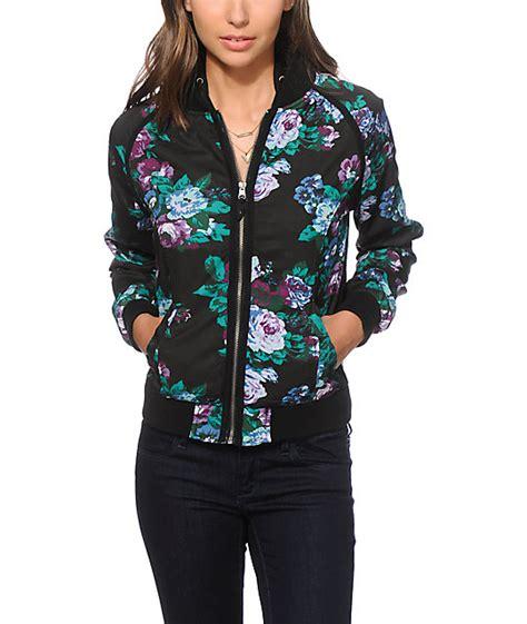 Flow Bomper Jaket empyre westbury floral bomber jacket at zumiez pdp