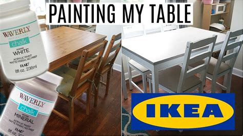 chalk paint no sanding painting my ikea table waverly chalk paint no sanding
