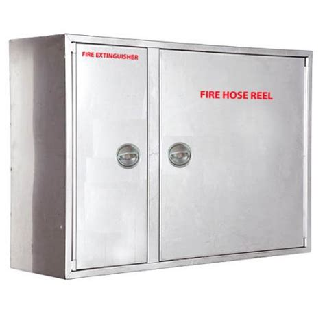 hose reel fire extinguisher cabinet stainless steel