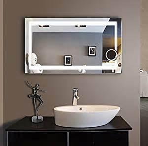 48 bathroom mirror lighted bathroom mirror 48 x 28 in